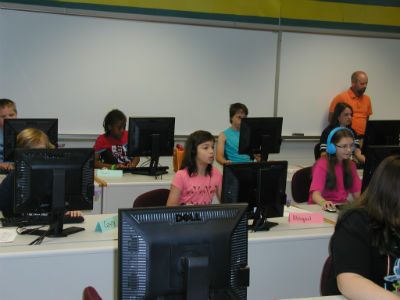 Students participating in the Summer Enrichment program