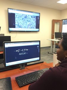 AutoCAD being used on a computer