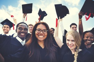 a group of graduating students