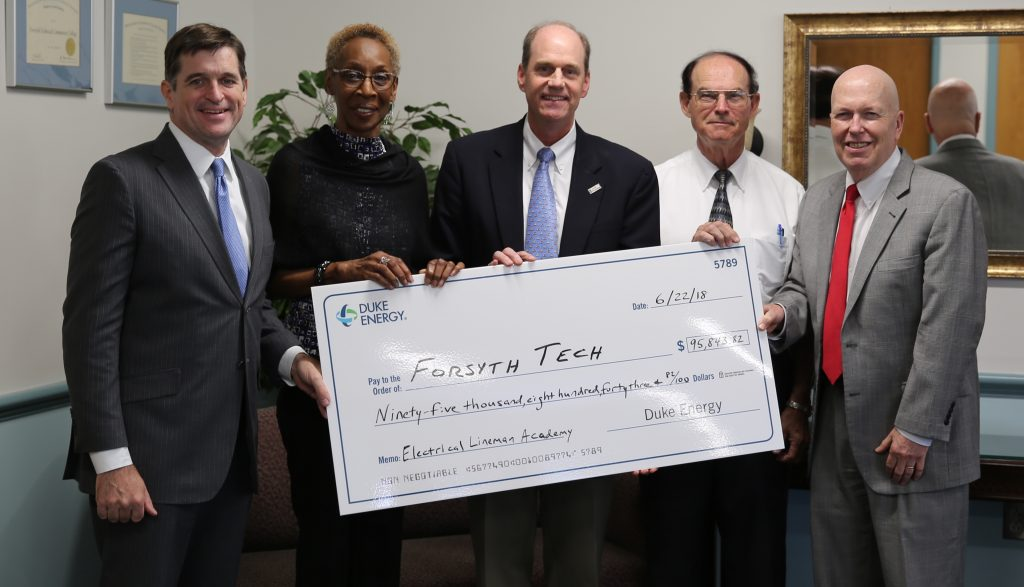 Check presentation from Duke Energy to Forsyth Tech