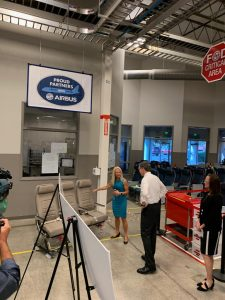 Governor Roy Cooper visiting the facilities