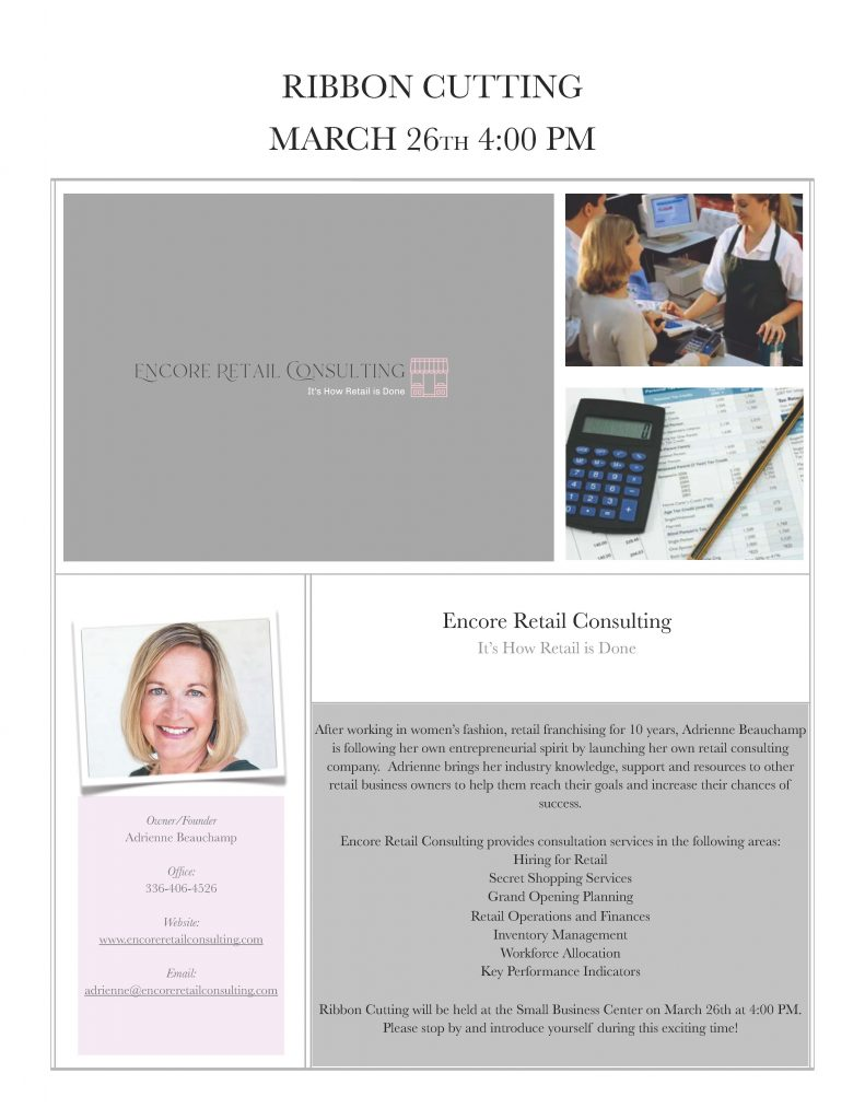 Encore Retail Consulting Ribbon Cutting Flyer