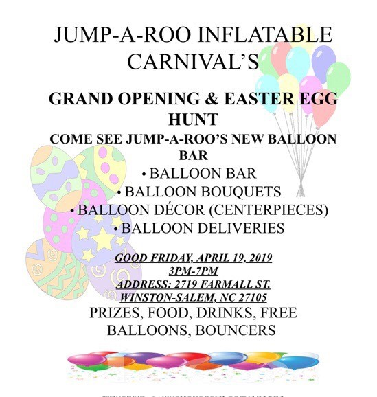 Fyler for Grand opening of Jump-a-roo inflatable carnivals