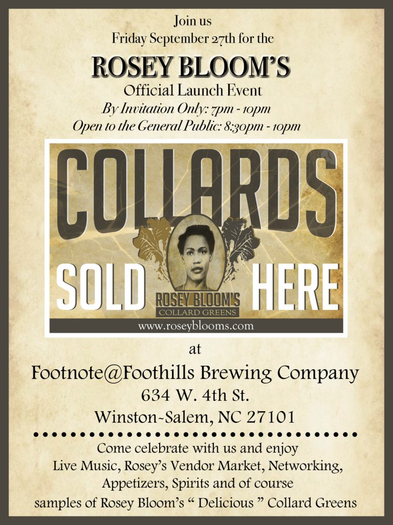 Flyer for grand opening of Rosey Bloom (Note: Event has already passed)