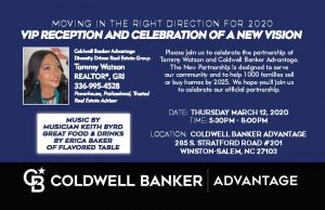 Annoucenment Flyer for the Partnership between Coldwell Bank and Tammy Watson: Event has already occured