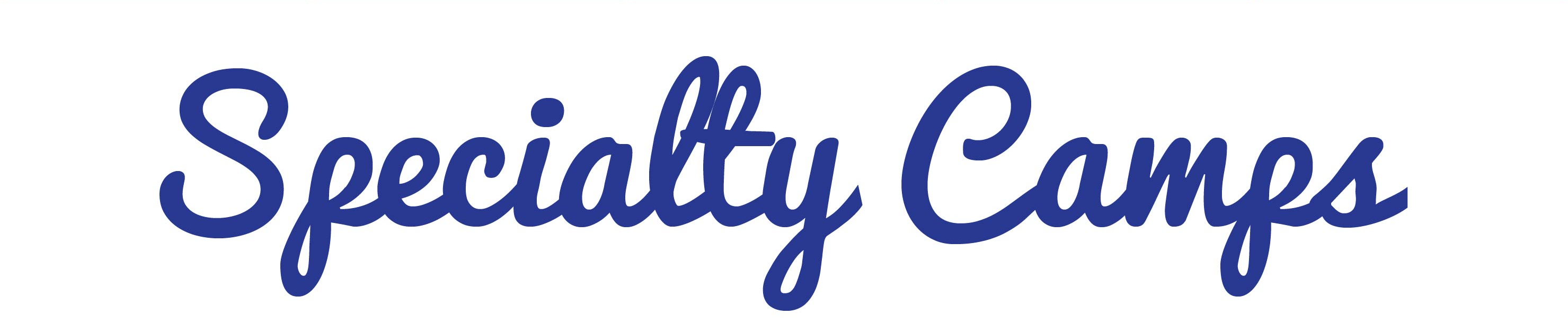 Specialty Camps header image