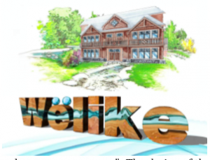 Wolike logo with a house on the backgroud