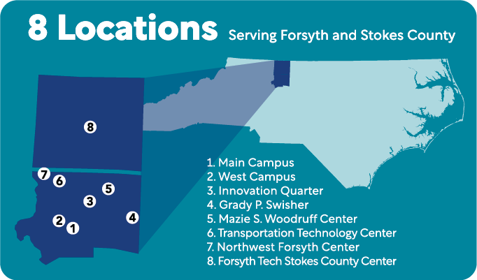 Map of Forsth Tech Locations