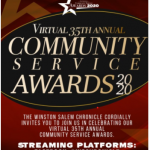 Virtual 35th Annual Community Service Awards 2020 informational flyer (past event)